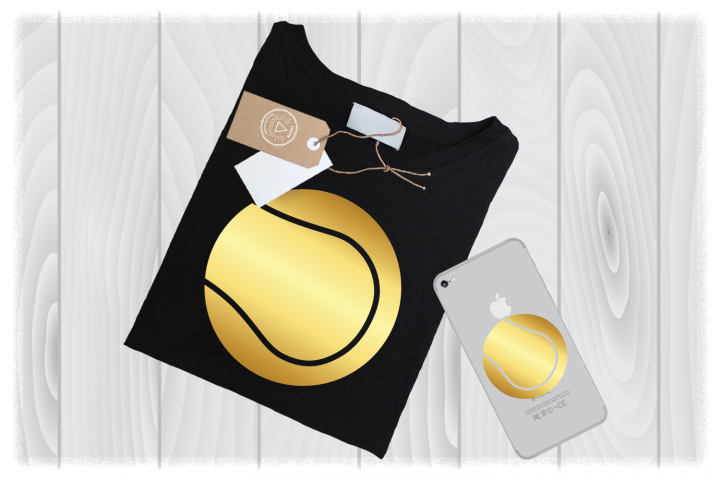 Gold Tennis Ball SVG Files for Cricut Designs| Tennis SVG