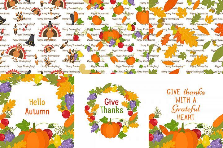 Happy Turkey and pilgrim Thanksgiving Clipart
