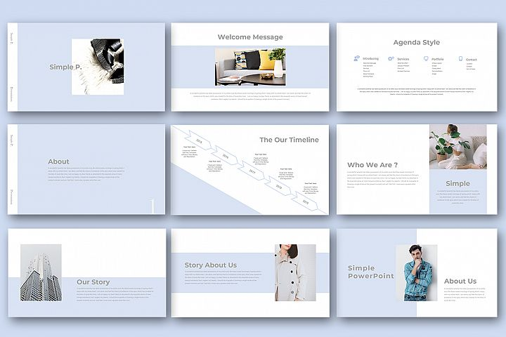 Simple P. Powerpoint Presentation example image 5