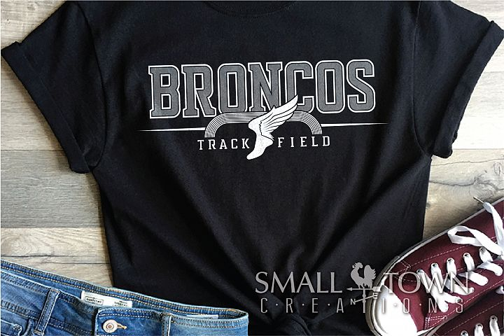 Bronco Track and Field, Team, Sports, PRINT, CUT & DESIGN