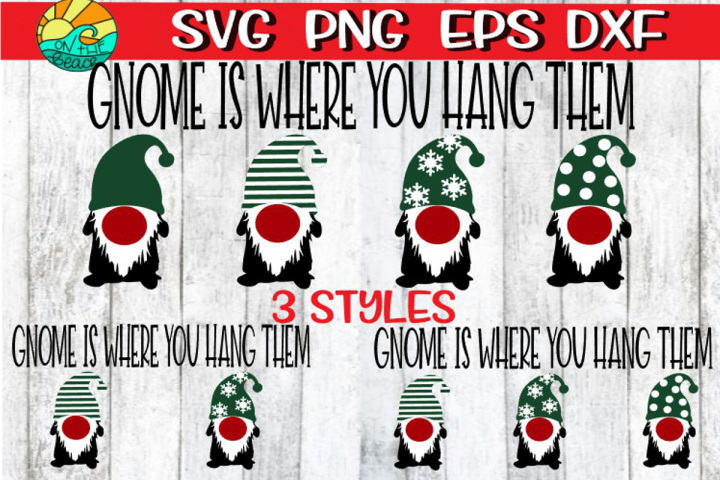 Gnome Is Where You Hang Them - Christmas Stocking Sign