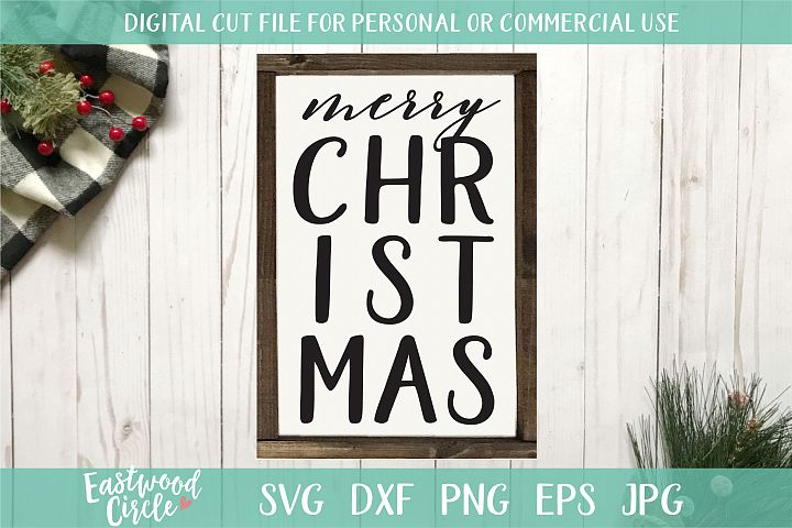Merry Christmas - A Christmas SVG Cut File