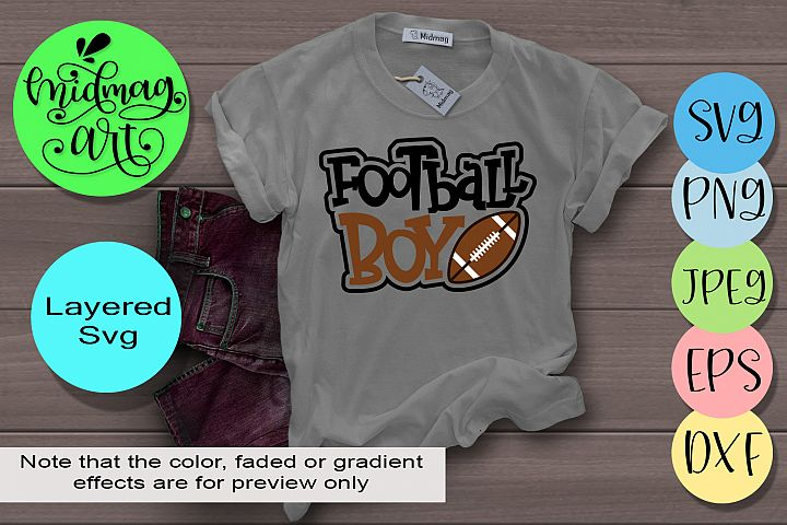 Football boy svg, football svg
