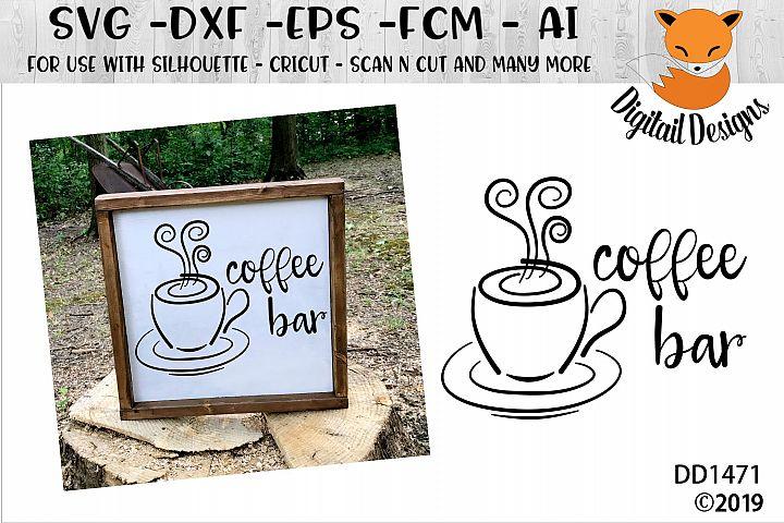 Coffee Bar SVG