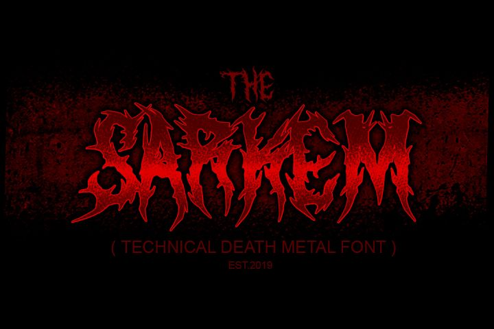 SARKEM TECHNICAL DEATH METAL FONT