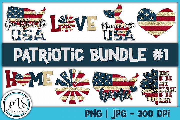 Patriotic Bundle #1 PNG, JPG, Sublimation, PrintnCut