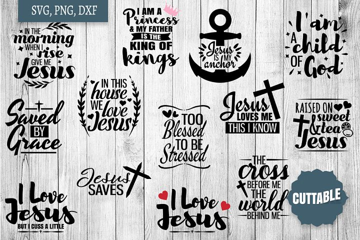 Jesus SVG, Jesus cut file Bundle, Christian cut file quotes