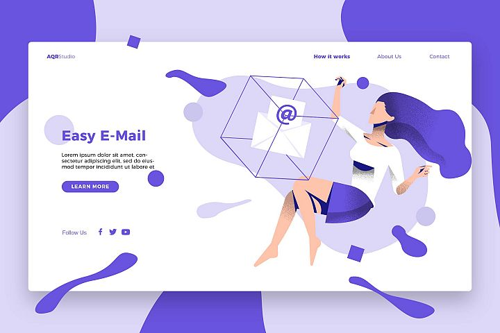 Easy Email - Banner & Landing Page