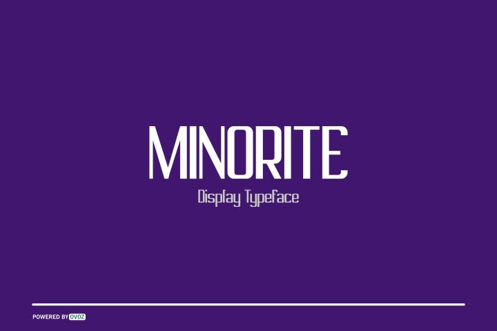 MINORITE DISPLAY TYPEFACE FONT