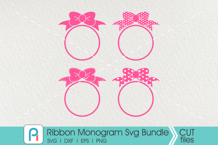 Ribbon Monogram Svg, Ribbon Svg, Ribbon Clip Art