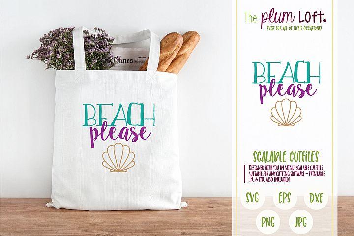 Beach Please - Beach Palms - SVG Design