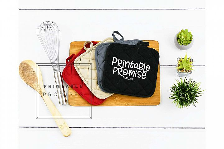 Oven Mitt Potholder Mockup Pot Holder Mock up Kitchen Mockup