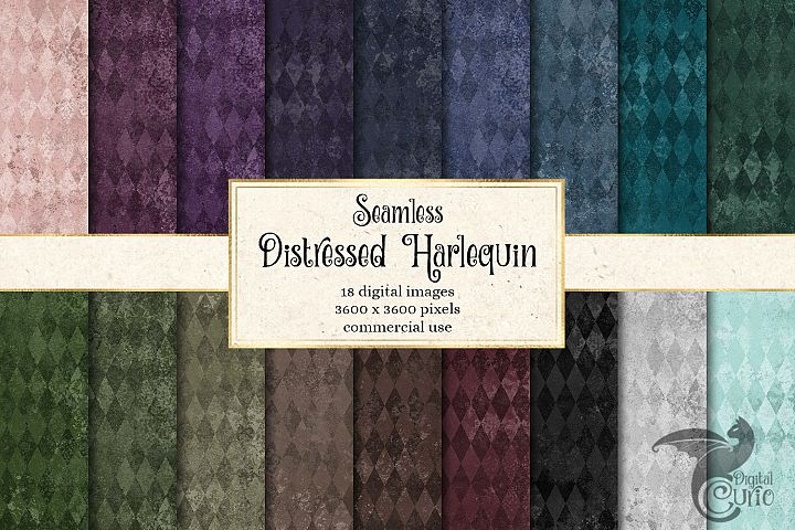 Distressed Harlequin Digital Paper