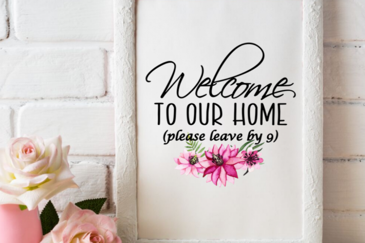 Welcome to our home please leave by 9 printable wall art