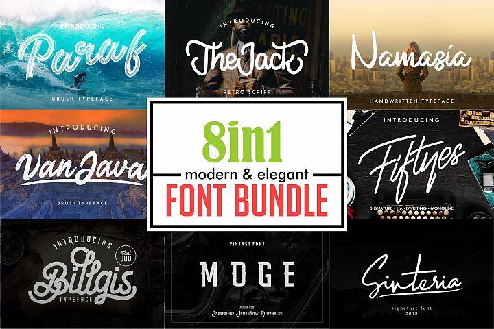Elegant Font Bundle | Logo Font