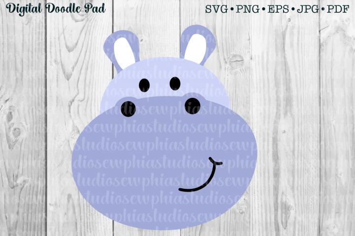 Hippo SVG Cut File