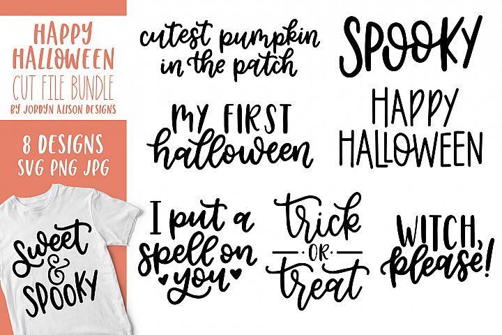 8 Halloween SVG Cut File Bundle