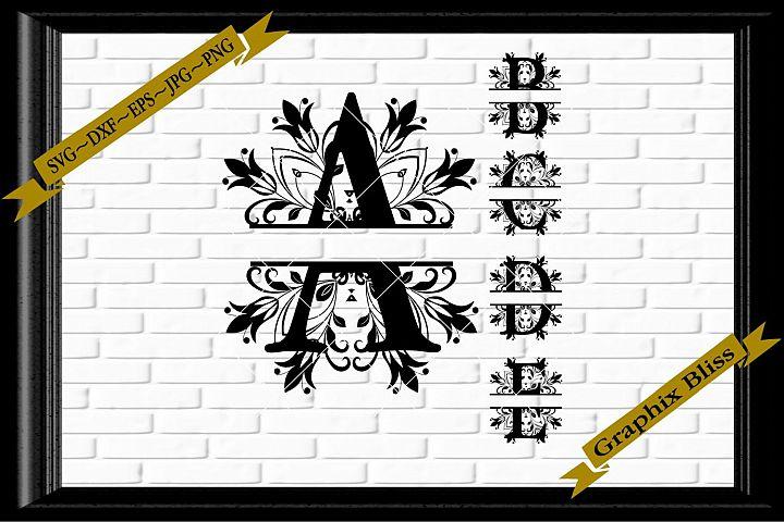 Split Letters Mandala Font Alphabet Established Monogram SVG