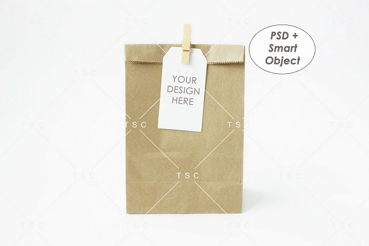 Goodie Bag Tag / Label Mockup