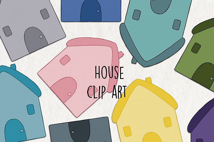 SVG House Clipart. Home graphics. Set of 20 svg and png