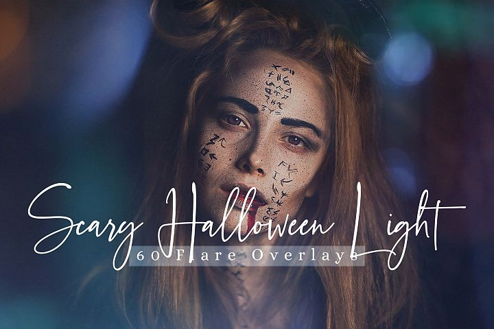 60 Scary Halloween lights Effect Photo Overlays