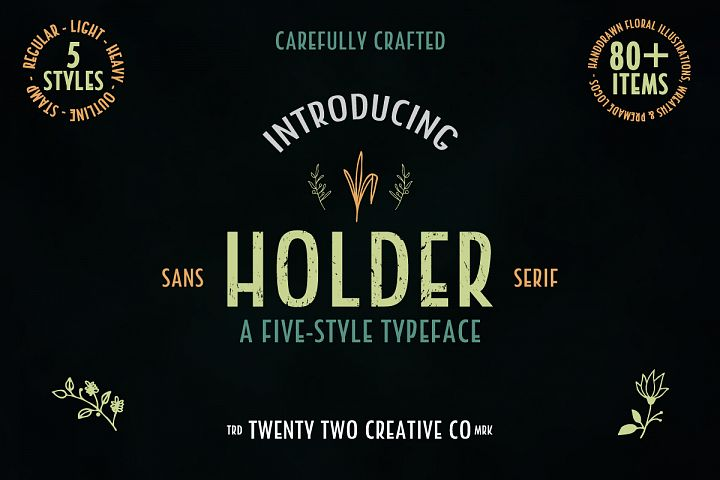 Holder Sans Font Family