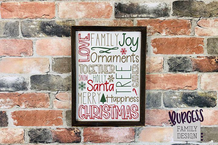 Christmas subway art | Cuttable file