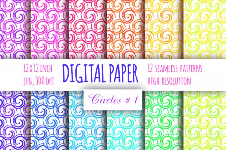 Curls digital paper. Abstract paper. Whirls seamless pattern