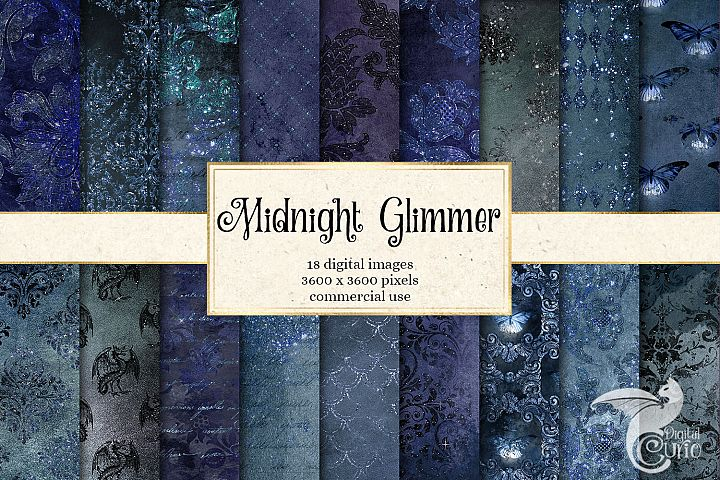 Midnight Glimmer Digital Paper