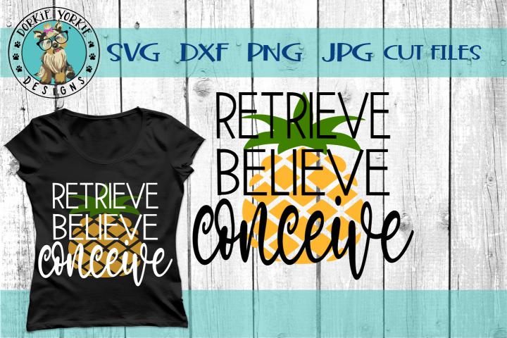 Retrieve Believe Conceive - IVF, Fertility, Pineapple - SVG