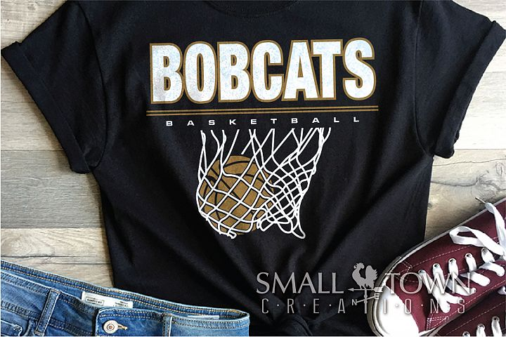 Bobcats basketball, bobcat mascot, team, PRINT, CUT, DESIGN