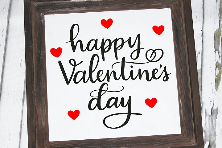 Happy Valentine's Day SVG - Valentine cut file, handlettered example 2