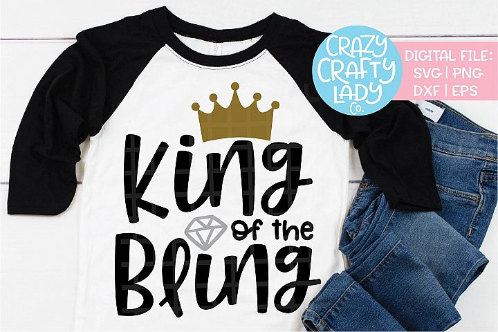 King of the Bling Wedding SVG DXF EPS PNG Cut File