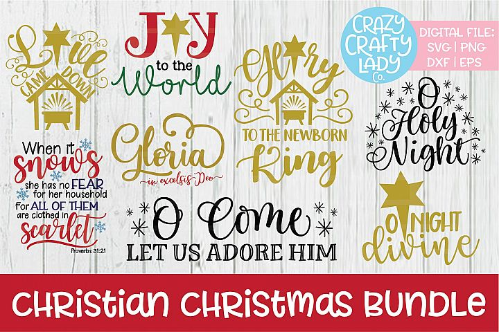 Christian Christmas Bundle SVG DXF EPS PNG Cut Files