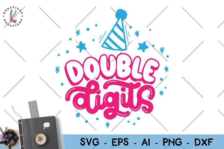 Birthday -double digits svg