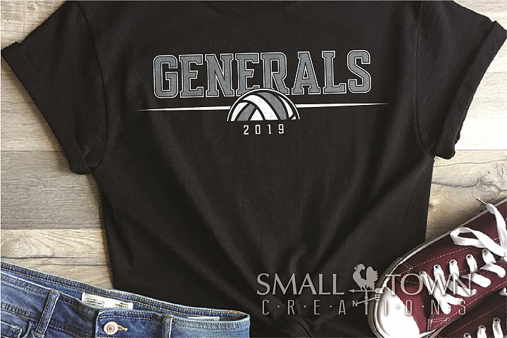 General, General volleyball, Team, logo, PRINT, CUT & DESIGN