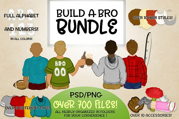 Build a Bro Bundle | Character Builder | Boy Version