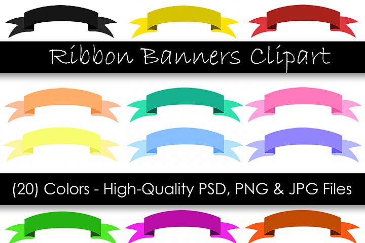 Ribbon Banner Clipart - Digital Clipart Banners