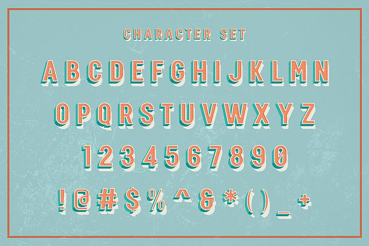 Three Dimension - SVG Font example image 4