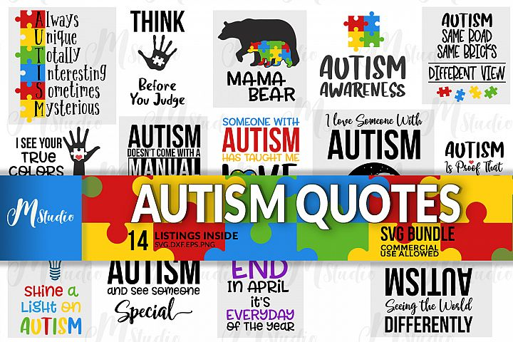 Autism Quotes svg bundle