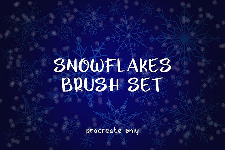 Snowflakes Brush Set - for Procreate
