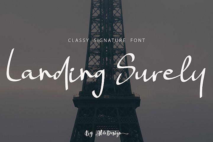 Landing Surely | Signature Font