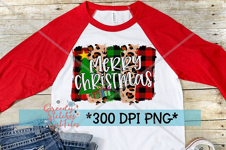Merry Christmas Brush Strokes PNG for Sublimation Printing