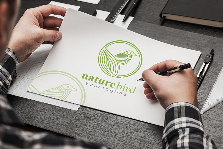nature bird Logo Template