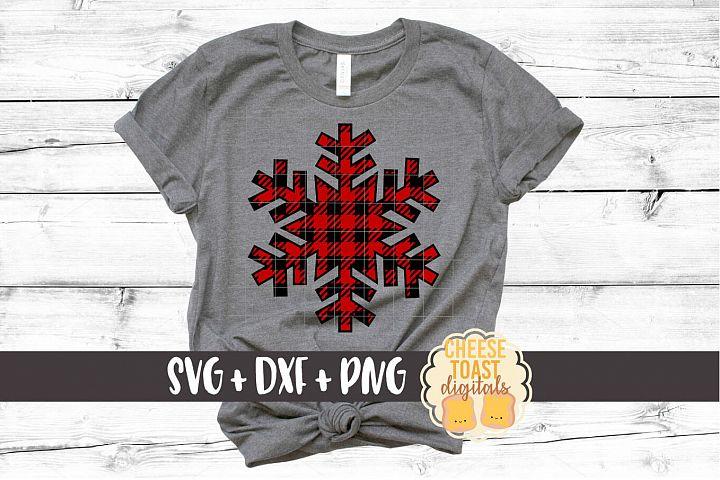 Buffalo Plaid Snowflake - Christmas SVG Files