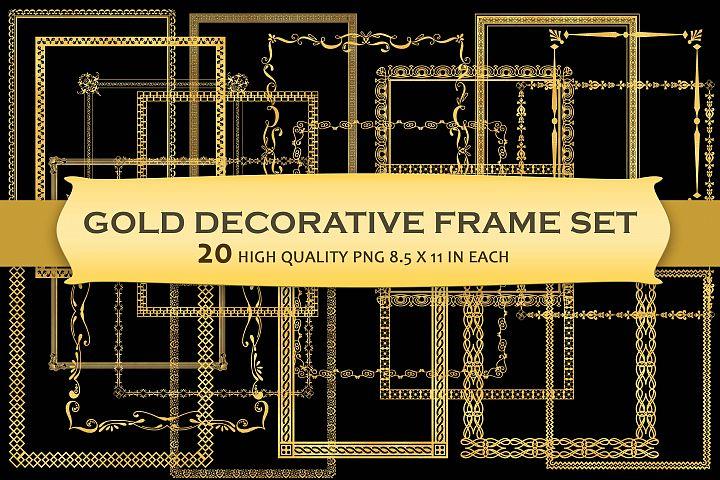Gold Decorative Frames Clipart