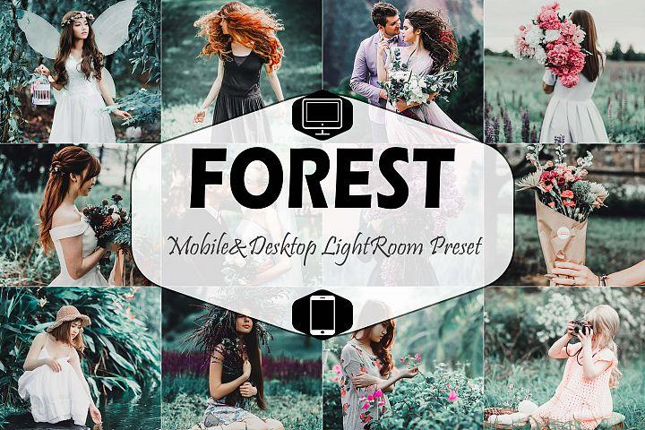 Forest Mobile & Desktop Lightroom Presets, Dark Green LR