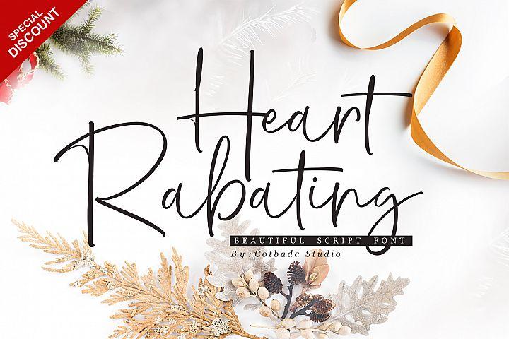 Heart Rabating Font Script