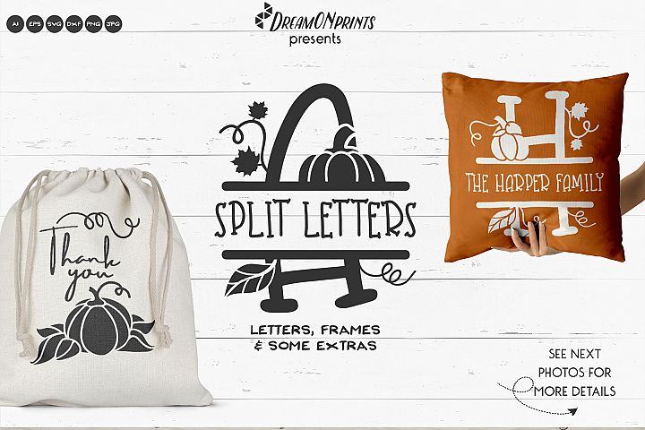 Split Letters Alphabet | Fall Split Monograms
