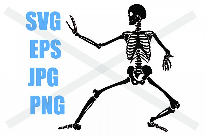 Skeleton Karate - SVG-EPS-JPG-PNG